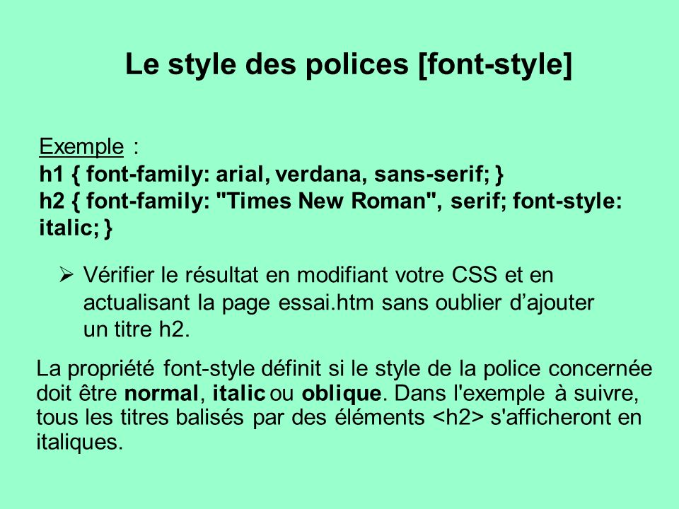 Le style des polices [font-style]
